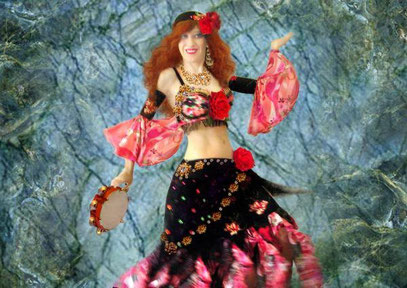 "Sofia Metal Queen - Photo from my video ""Gypsy Queen Belly Dancer"","