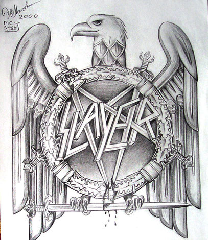Slayer (metal band) logo - art of Sofia Metal Queen