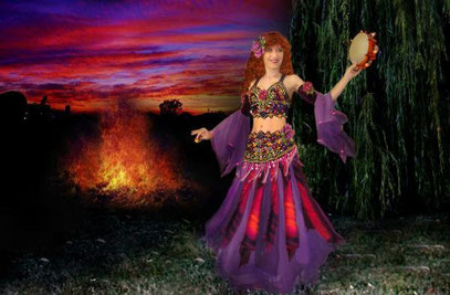 Sofia Metal Queen as Gypsy Queen Ameynra. From promotional video.