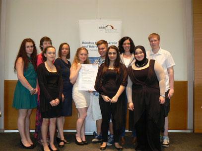 Preisverleihung in der Potsdamer Staatskanzlei im Mai 2013
