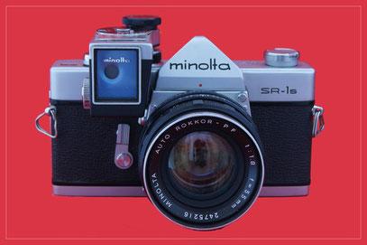 MINOLTA SR-1s hier mit Objektiv 1:1,8 55mm und SR-Meter V