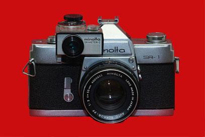 MINOLTA SR-1 new (Baujahr 1963), hier mit SR-Meter-2