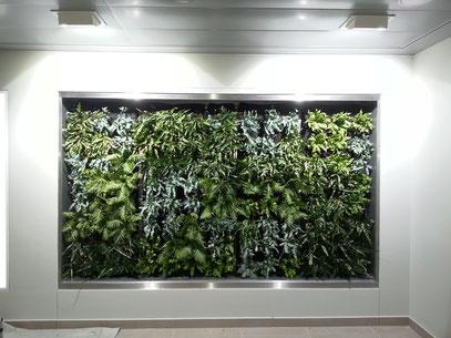 Greensystem versenkt in Wandnische
