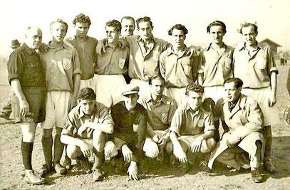 1. Mannschaft des FC Alemannia aus dem Jahr 1949.
