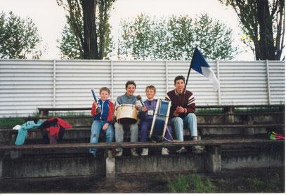 Steinsdorfer Fans beim Endspiel 1991