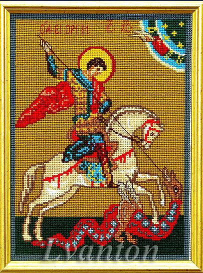 мулине, крест, канва с рисунком