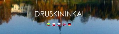 """Homepage des litauischen Kurortes  """"Druskininkai"""". Momentan leider nur in litauischer, englischer und russischer Sprache."""