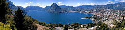 Lugano bei Tag