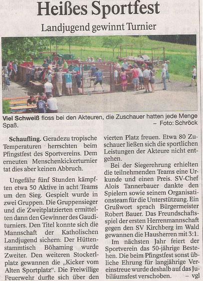 Bericht der Deggendorfer Zeitung vom 16.06.2014