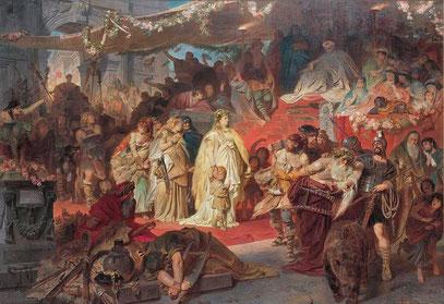 Carl Theodor von Piloty: Thusnelda im Triumphzug des Germanicus (v.1873)