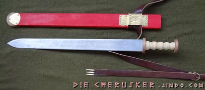 Zweischneidiges Schwert - Typ: Folkeslunda Zaspy, Zeitstufe: C1a-C1b (überwiegend C1b)
