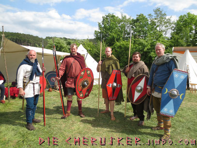 Germanen auf der Zeiteninsel (Foto: Hans Albring)