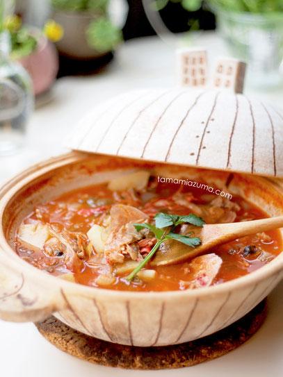 サカナスープ 土鍋(大/白)
