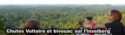 Randonnée naturaliste aux Chutes Voltaire et bivouac sur un inselberg