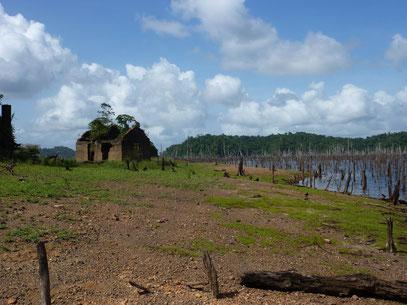 bagne des annamites sur le lac de Petit Saut Pierre Gutierrez