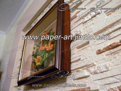 рамки квиллинг объемные рамки бумага цветы