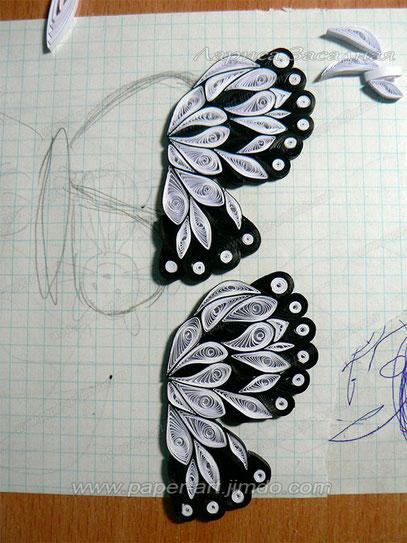 бабочка, квиллинг, мастер класс, бабочка из бумаги