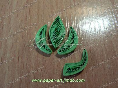 квиллинг бумага цветы листья картина