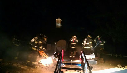 Roof Ops Drill - Working above the fire