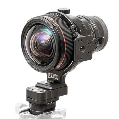 pocketPANO Rear Shift Adapter und Panorama Head Canon TS-E 17mm 24mm TS-E Frame
