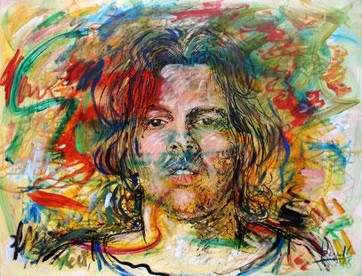 EL REGRESO, acrylique sur toile, 115 x 90 cm, 2008