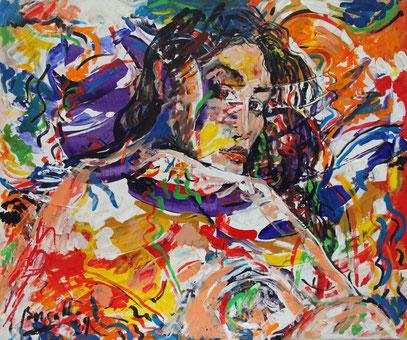 LA ROMANA, acrylique sur toile, 120 x 100 cm, 2009