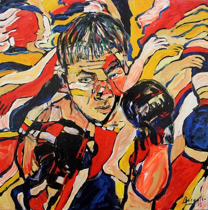 EL LUCHADOR, acrylique sur toile, 85 x 85 cm, 2005