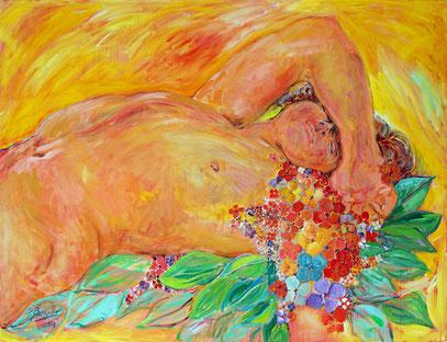 RENAISSANCE, acrylique sur toile, 116 x 90 cm, 2021