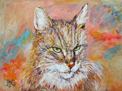 LADY LIBERTY MANON, acrylique sur toile, 60 x 47 cm, 2019