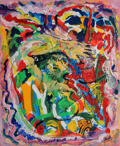 JUNTO AL CUERPO, acrylique sur toile, 50 x 60 cm, 2011