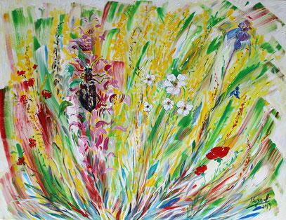COLÉOPTÈRE, acrylique sur toile, 116 x 90 cm, 2019