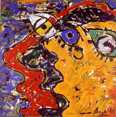 LA FURIA 5, acrylique sur toile, 100 x 100 cm, 1997