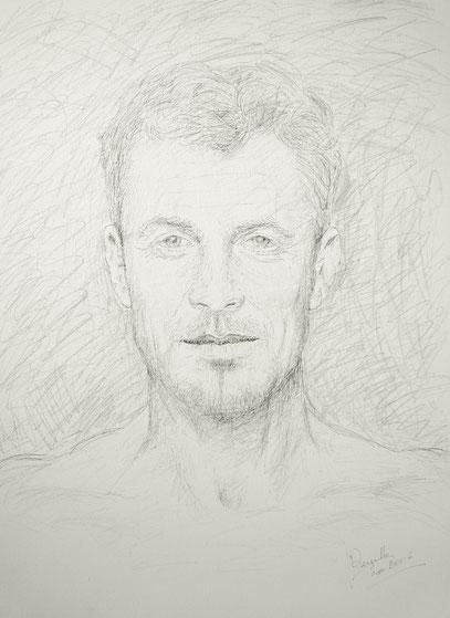 JUAN MANUEL, encre et crayon sur toile, 80 x 60 cm, 2006