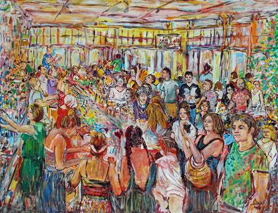 LE MODERNE - VILLERÉAL, acrylique sur toile, 115 x 90 cm, 2019