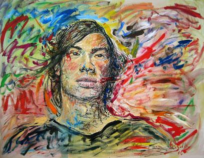 FUTURO, acrylique sur toile, 115 x 90 cm, 2008