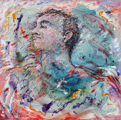 POEMA DE OTOÑO, acrylique sur toile, 80 x 80 cm, 2010