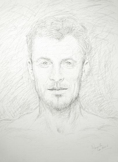 JUAN MANUEL, créon sur toile, 60 x 80 cm, 2006