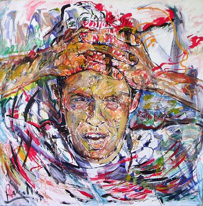 ABIERTO, acrylique sur toile, 100 x 100 cm, 2006