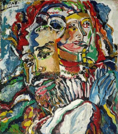 CABALLERO, acrylique sur toile, 60 x 80 cm, 1994.