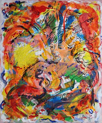 LA MÚSICA, acrylique sur toile, 50 x 60 cm, 2011