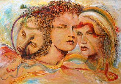 FASCINATION, acrylique sur toile, 165 x 115 cm, 2007