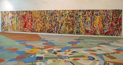 LA DANSE DE SALOMÉ, acrylique sur toile, 13 m x 2.20 m, 1983