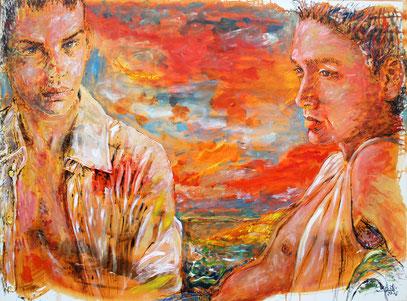 FIN DEL DÍA, acrylique sur toile, 130 x 98 cm, 2006
