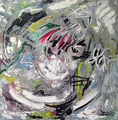FONDO DE MAR, huile sur toile, 100 x 100 cm, 1992