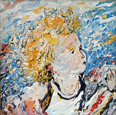 L'ENFANT, acrylique sur toile, 100 x 100 cm, 2000