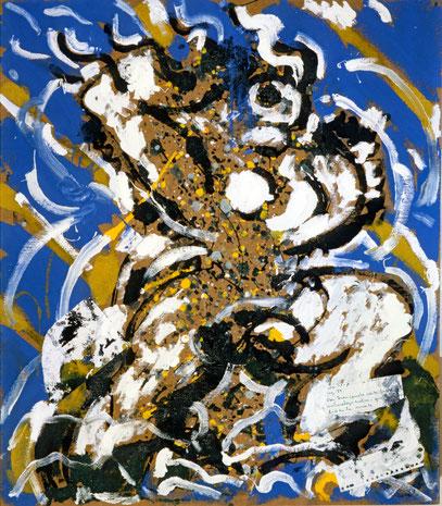 DON JUAN, acrylique sur toile, 120 x 100 cm, 1985