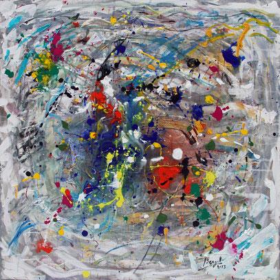 DEPUIS DES SIÈCLES, acrylique sur toile, 100 x 100 cm, 2013