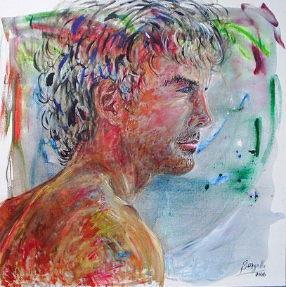 JOHANNES, acrylique sur toile, 100 x 100 cm, 2006