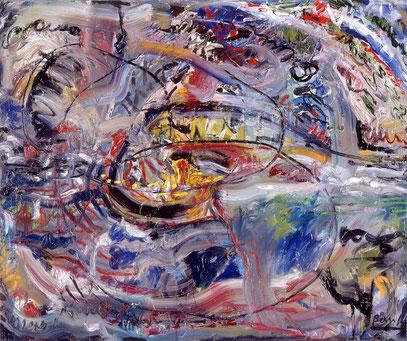 PREGUNTA, huile sur toile, 120 x 100 cm, 1993