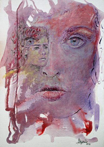 ORFEO Y EURIDICE, acrylique sur toile, 70 x 100 cm, 2012